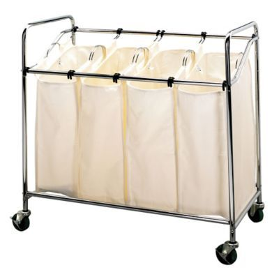 Household Essentials Heavy Duty Rolling Quad Laundry Sorter In