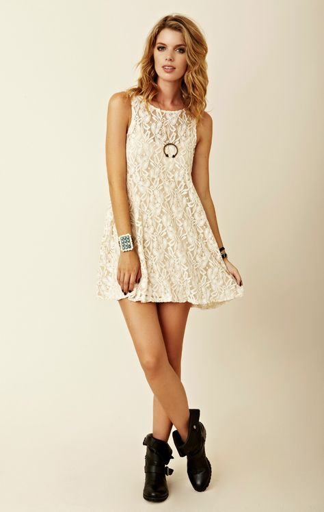 Miles Of Lace Tank Dress Free People Lace Dress Dresses