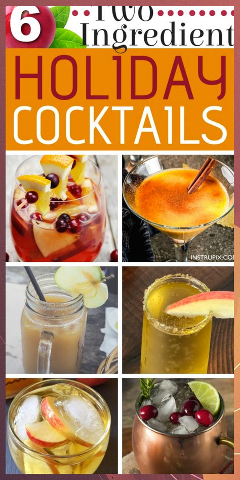 6 Two Ingredient Easy Holiday Drink Recipes (with alcohol) #Alcohol #drink #Easy #Holiday #Ingredient #Recipes
