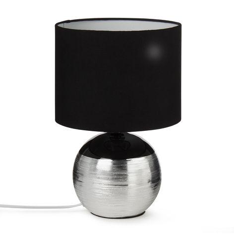 Superbe Lampe à Poser En Céramique NOIR/ARGENT Noir/Argent   Sumia   Les Lampes à  Poser   Lampes   Luminaires   Décoration Du0027intérieur   Alinéa