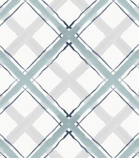 Drapery Upholstery Fabric Railroaded Jacquard Plaid//Check Stripe Ivory Multi
