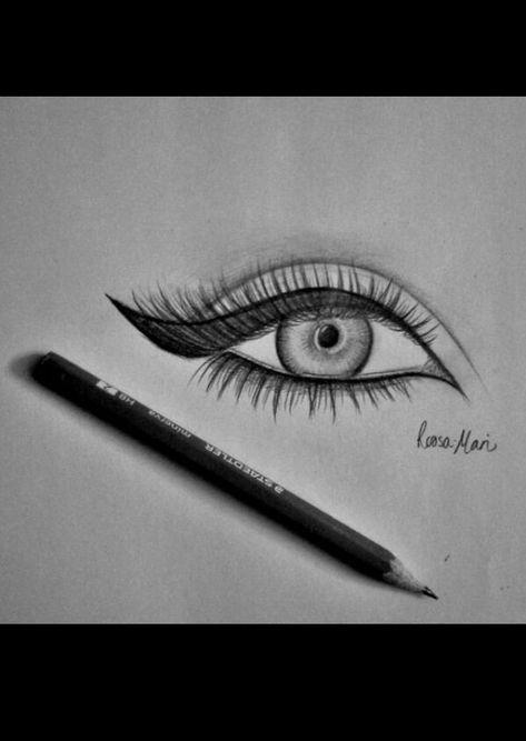 Drawing ideas to improve your drawing technics. #EyeLashesDrawing