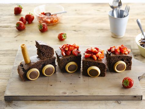 Yummy Chocolate Train Cake