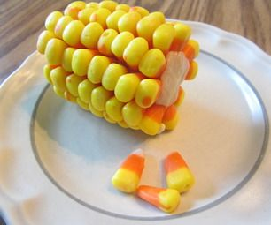 Corn on the Cob candy   http://www.instructables.com/id/Candy-Corn-on-the-COB/