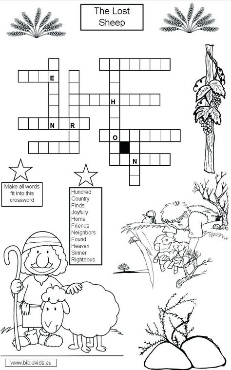 Lost Sheep Coloring Pages Free The With Images Bible