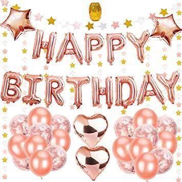Rose Gold Alles Gute Zum 68 Stück Happy Birthday Party Luftballons Dekoration