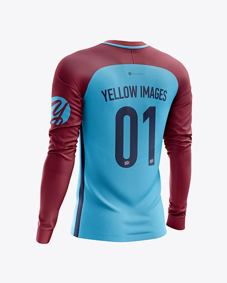 Download Men S Soccer Team Jersey Ls Mockup Back Half Side View In Apparel Mockups On Yellow Images Object Mockups Clothing Mockup Shirt Mockup Team Jersey