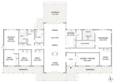 Floor Plan Friday 5 Bedrooms Open Plan Living Floor Plans Barndominium Floor Plans Barn House Plans