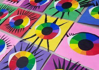 Mrs Pearce S Art Room 5th Graders Created Color Wheel Eyes Renkler
