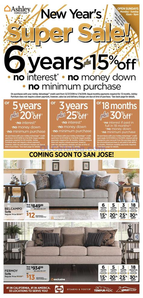 Ashley Furniture Homestore Ad January 8 14 2019 Do You Know