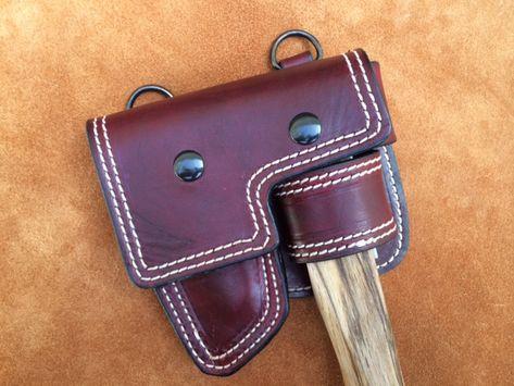 Japanese Hand Axe Sheath w/Detachable Belt Attachment Option » RMB Custom Leather