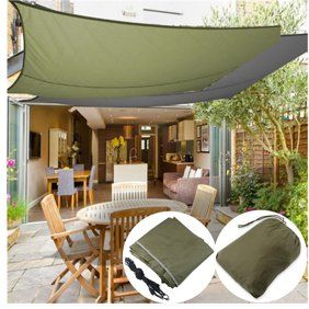 Hurrise Outdoor Rectangle Waterproof Sun Shade Sail Garden Patio Sunscreen Awning Canopy Walmart Com Sun Sail Shade Shade Sail Backyard Shade