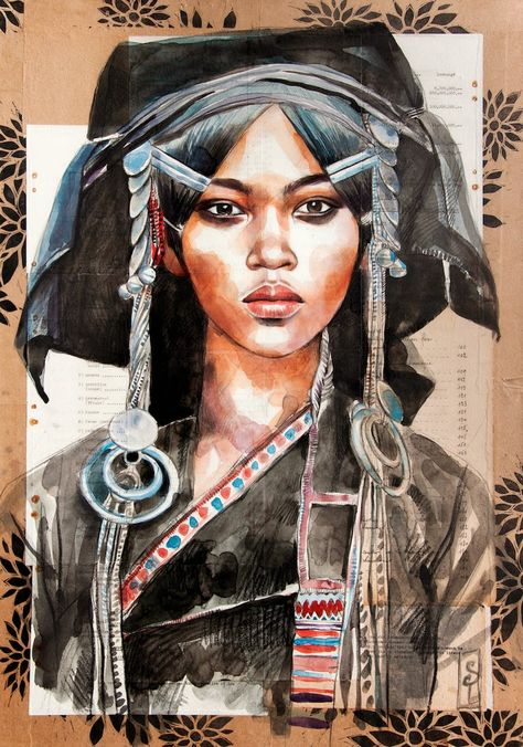 Stéphanie Ledoux - Carnets de voyage: Akha