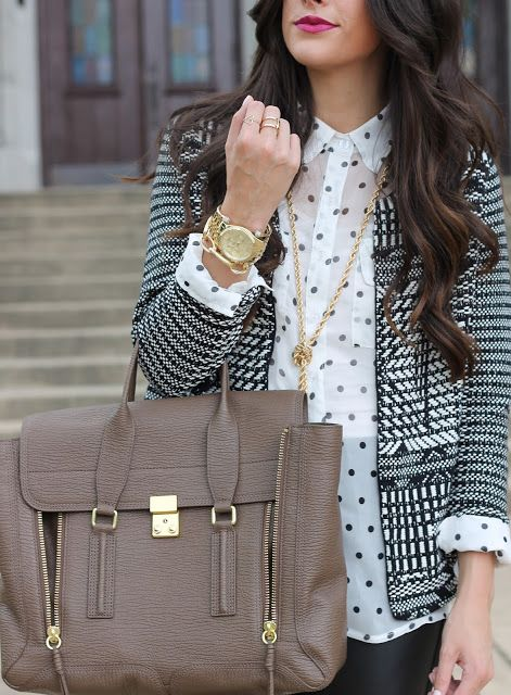 i LOVE this jacket and shirt combo!  The Sweetest Thing Blog