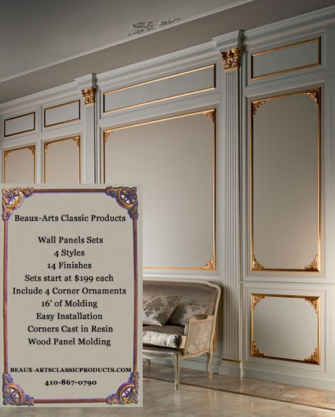 Wall Panel Layout And Design Inspiration Beaux Arts Classic Products Wall Paneling Wall Panels Bedroom Wall Panel Design