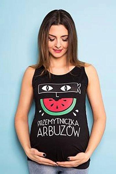 Bluzka Ciazowa Na Ramiaczka Przemytniczka Arbuzow Kolor L Bialy Piekna Mama Tank Tops Fashion Women
