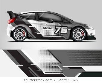 Rally livery design  Racing car wrap design  abstract strip