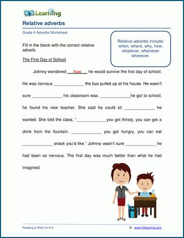 Grade 4 Adjectives And Adverbs Worksheets K5 Learning Adverbs Worksheet Adverbs 2nd Grade Worksheets