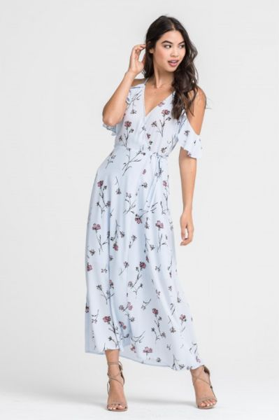 835e4af806e7 Willow Blue Floral Maxi Dress by Lush