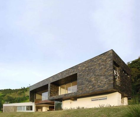 modern home design architecture with flat roof