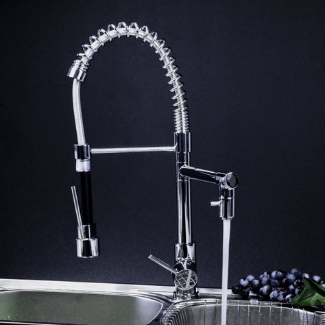 Kitchen Adjustable Kitchen Faucet Andsdoors Stainless Single Handle