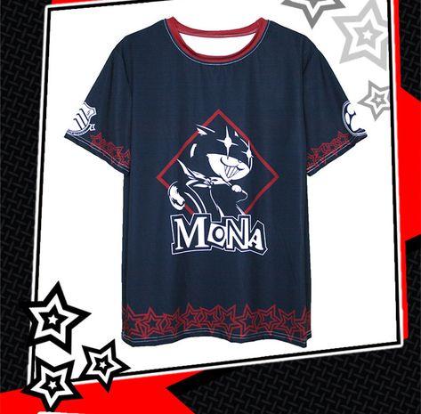 心の怪盗団プリントTシャツ モナ モルガナ綿100%謎の黒猫キャラクター Tシャツ メンズMONA二頭身Tシャツ黒ネコ