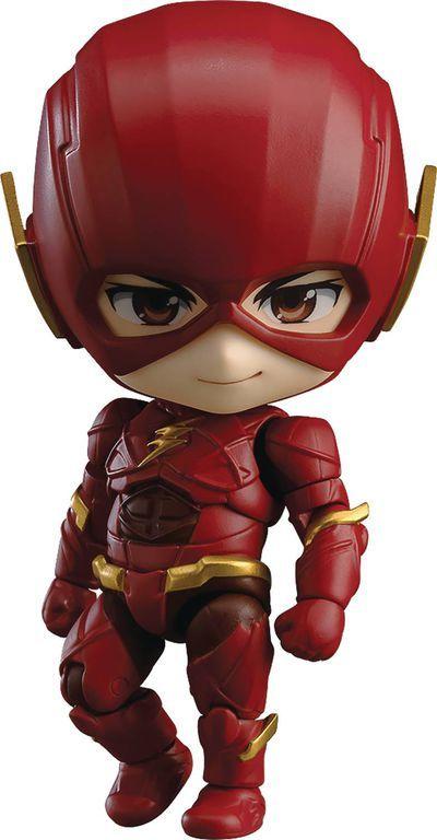 Justice League Flash Nendoroid Action Figure Com Imagens