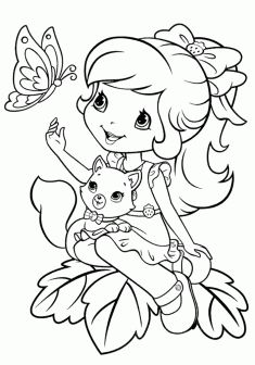 Kiz Boyama Sayfasi Girls Coloring Pages Chicas Para Colorear