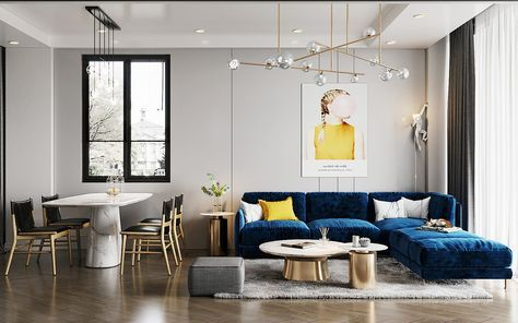 Creating Bounce With Blue And Yellow Accent Decor Contemporary Furniture Design Latest Living Room Designs Furniture Design Modern
