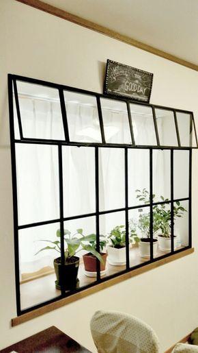 カーテンを無くして出窓にカッコイイ窓枠を作る セリア木製フレームと1 1材 出窓 インテリア 出窓 窓 リフォーム