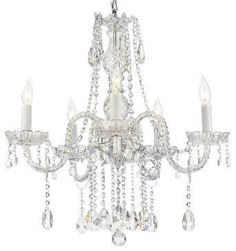 Crystal Chandelier Lighting 28ht X 28wd 8 Lights Fixture Pendant Ceiling Lamp