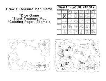 Draw A Treasure Map Dice Game Students Drawings Are Determined By The Roll Of The Dice Included A Treasure Map Game A Blank Tre Map Games Treasure Maps Map