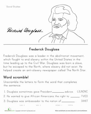 Historical Heroes: Frederick Douglass | Black history month ...
