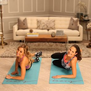 This killed me. Victoria Secret Top Models Full Body Workout - it is a GREAT 10 minute workout. Plies & other ballet moves that will shred your legs! Plus has tons of other 10 minute videos