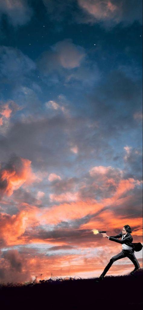 iPhone wallpaper (John Wick) in colour