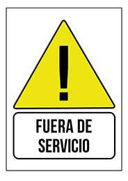Cartel Fuera De Servicio Senalizacion Oficina Pymes Empresa