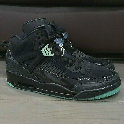 Jordan Spizike Black Green Glow in the
