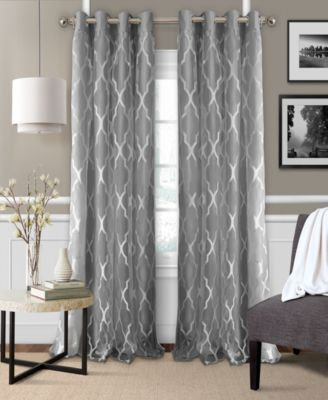 Elrene Bethany 52 X 84 Sheer Overlay Blackout Grommet Curtain
