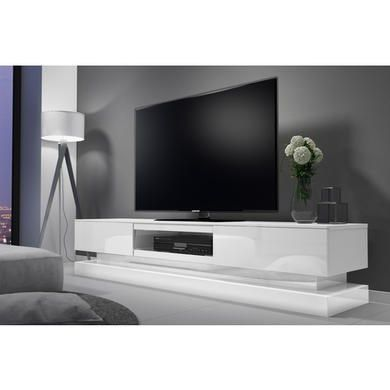 Evoque Large White High Gloss Tv Unit