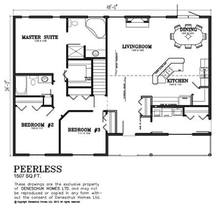 Peerless Plan Deneschuk Homes House Plans House Floor Plans Best House Plans