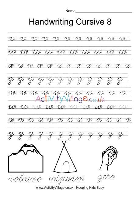 Free Printable Joined Up Handwriting Worksheets Uk ...