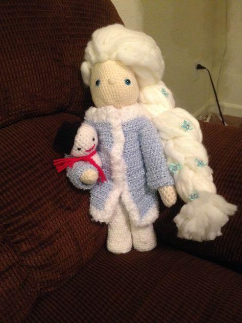 Elsa And F Mijn Gehaakte Pop Crochet Doll Ma Poupée Au
