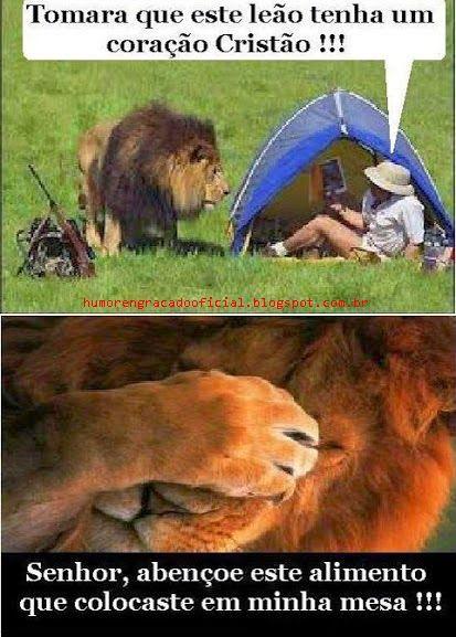 Tomara que este leão tenha um coração Cristão!…