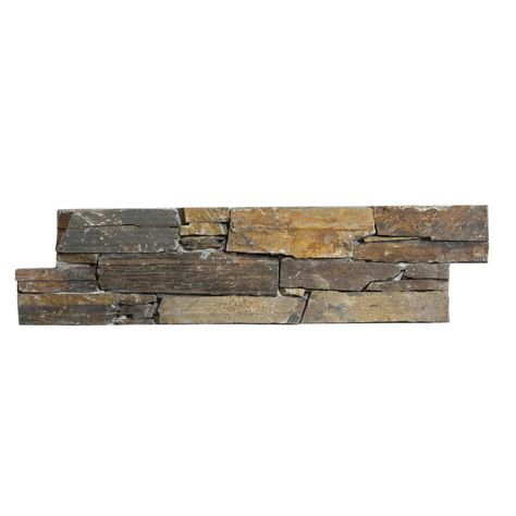 Parement Mural Interieur Exterieur Stonepanel Multicolor Ardoise Marron Rougeatre 20x60 Cm Ep 4 5 Cm Parement Mural Interieur Parement Mural Exterieur