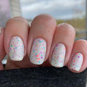 Ions Of Neon Glitter Indie Nail Polish Rainbow Nail Etsy In 2020 Short Acrylic Nails Indie Nail Polish Rainbow Nails