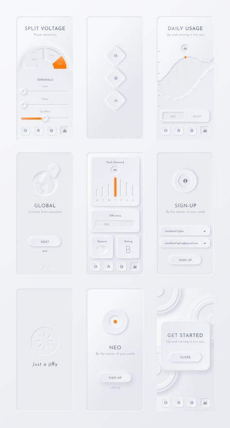 Neumorphic Soft UI Kit - NEU