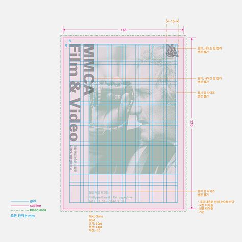 design guidelines for promotional materials of MMCA(National Museum of Modern and Contemporary Art) Seoul — studio fnt