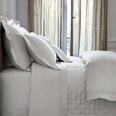 Yves Delorme Triomphe Single Reversible Duvet Cover Bed Linens Luxury Luxury Bedding Silver Bedding