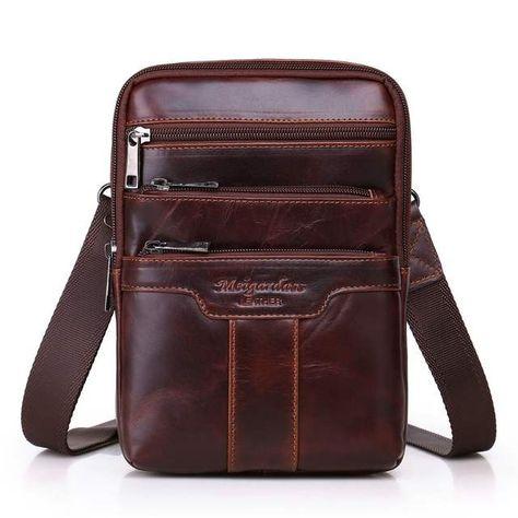 c64e962cd785 Известный бренд золотой Коралл натуральная кожа сумки-мессенджеры для  мужчин сумки на плечо мужские нагрудные