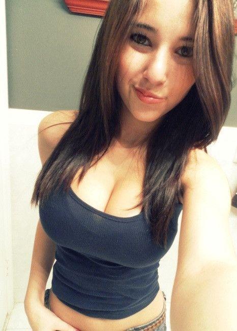 Selfie girls tight teen shirt